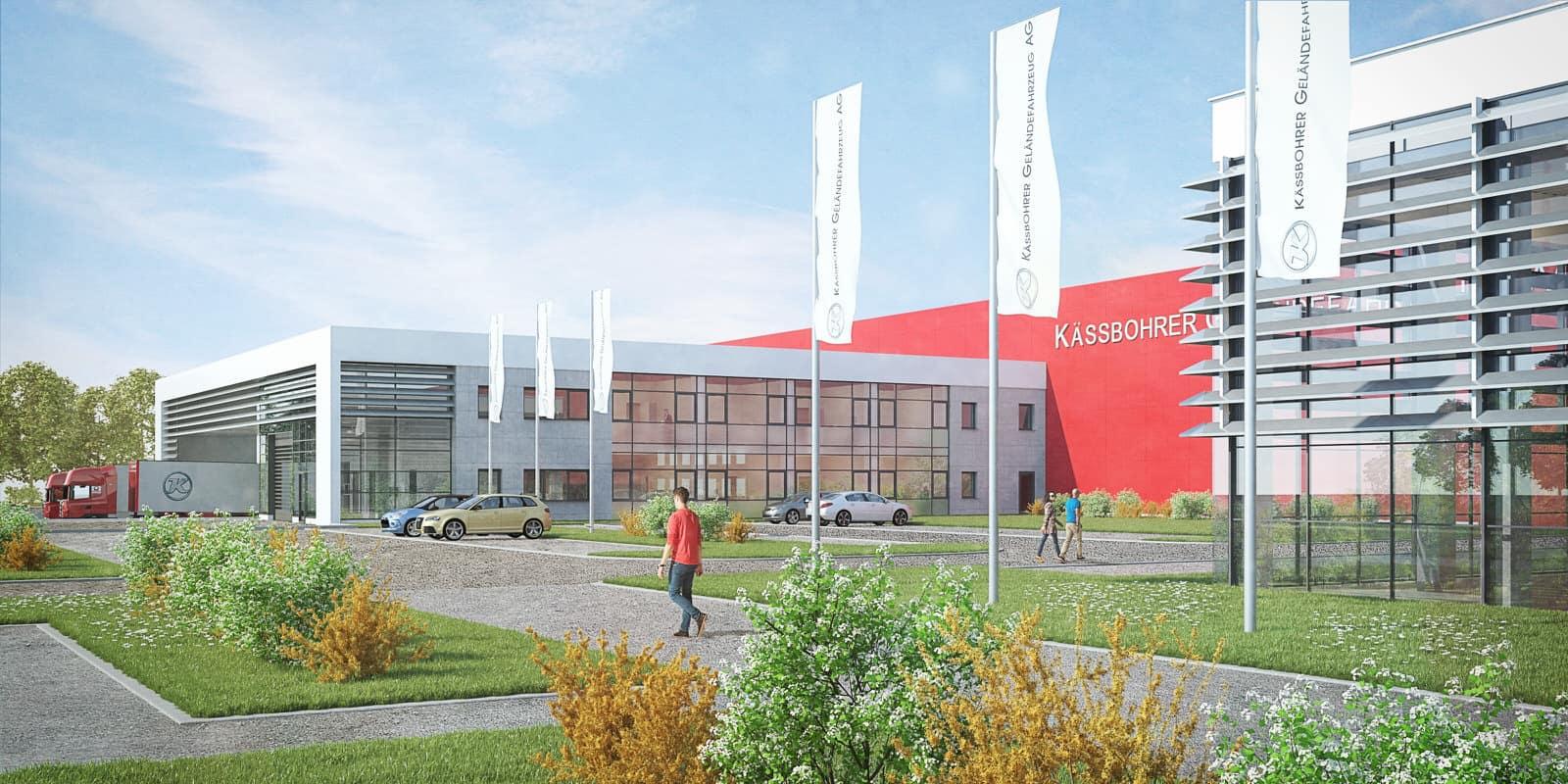 erweiterung logistikhalle mit kommissionierung / neubau parkplatz laupheim