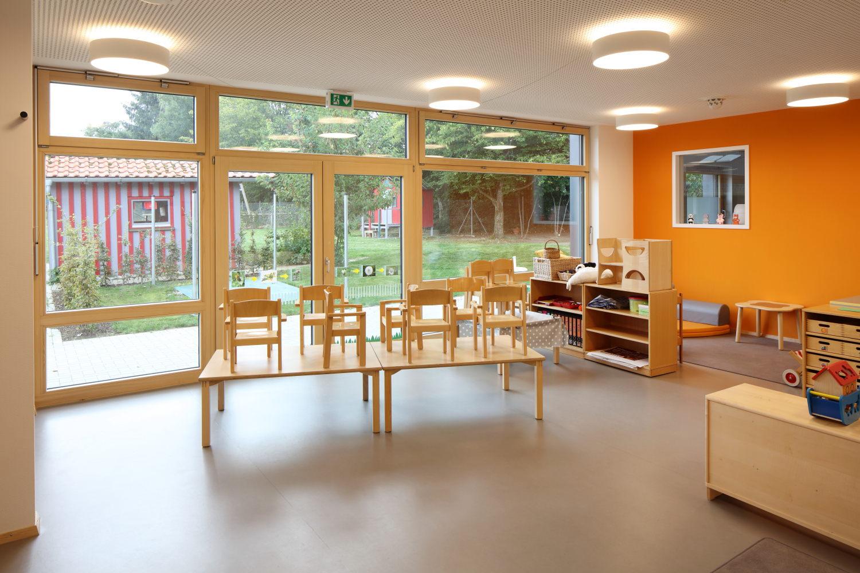kindergarten neubau steinhausen an der rottum